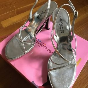 Silver Special Occasion Size 9 Slingbacks